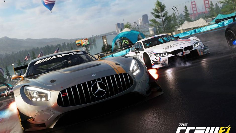 picture showing cars racing