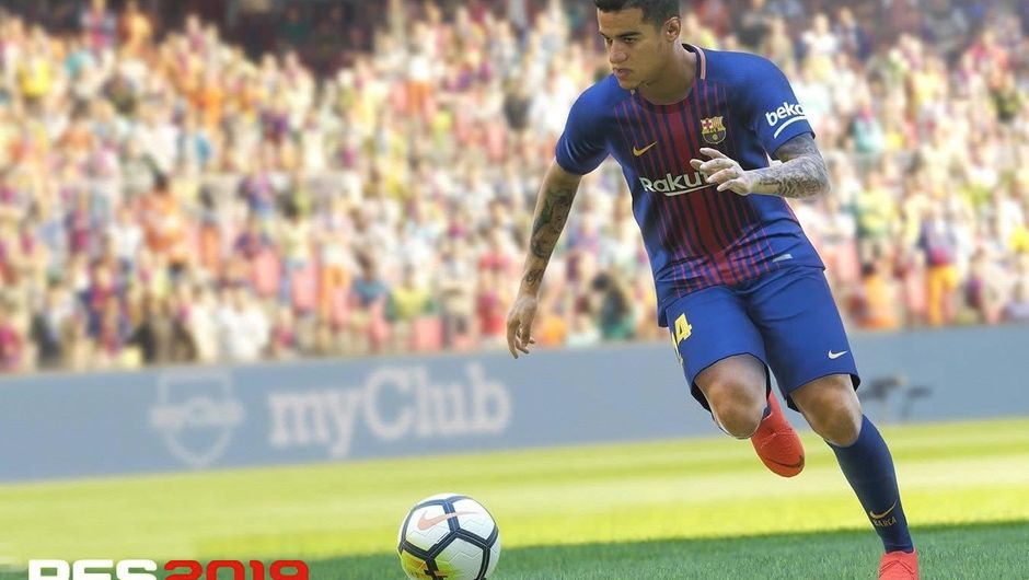 Barcelona footballer Coutinho as portrayed in PES 2019
