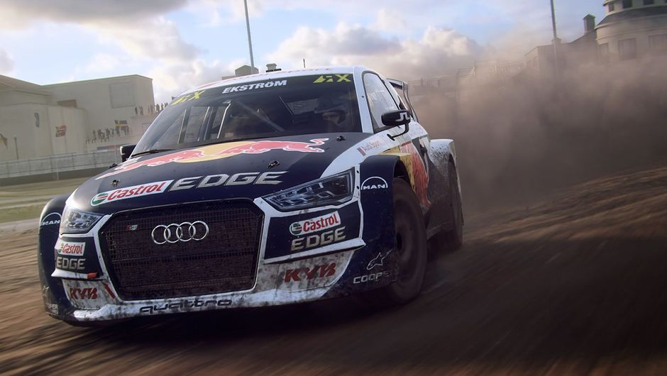 Audi's rally car from Dirt Rally 2.0 by Codemasters