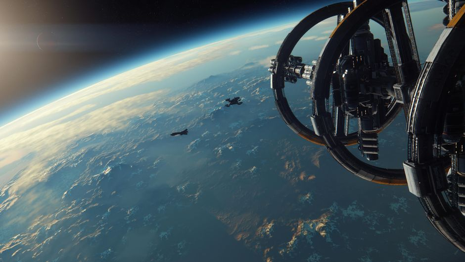 One of the promotional images for RSI's game Star Citizen