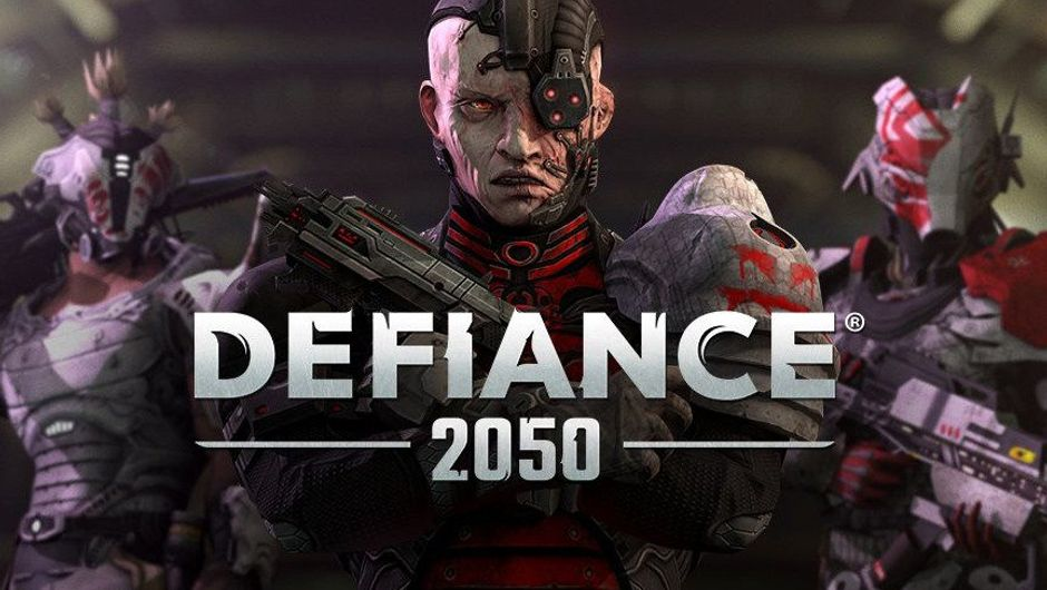 Promotional image for Defiance 2050 showing some Borg-like humanoids.