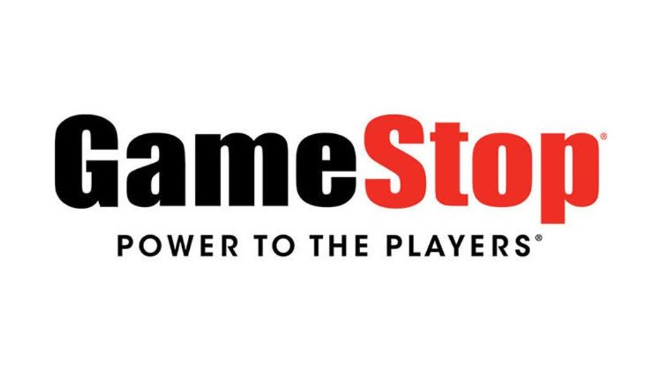 Logo of Gamestop with their slogan Power to the Players