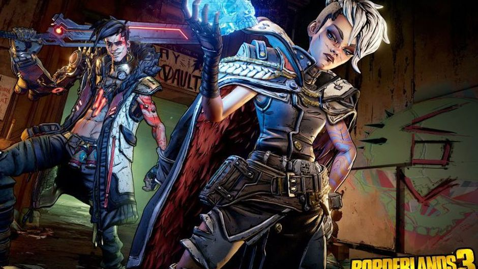 borderlands 3 screenshot showing a female and male character