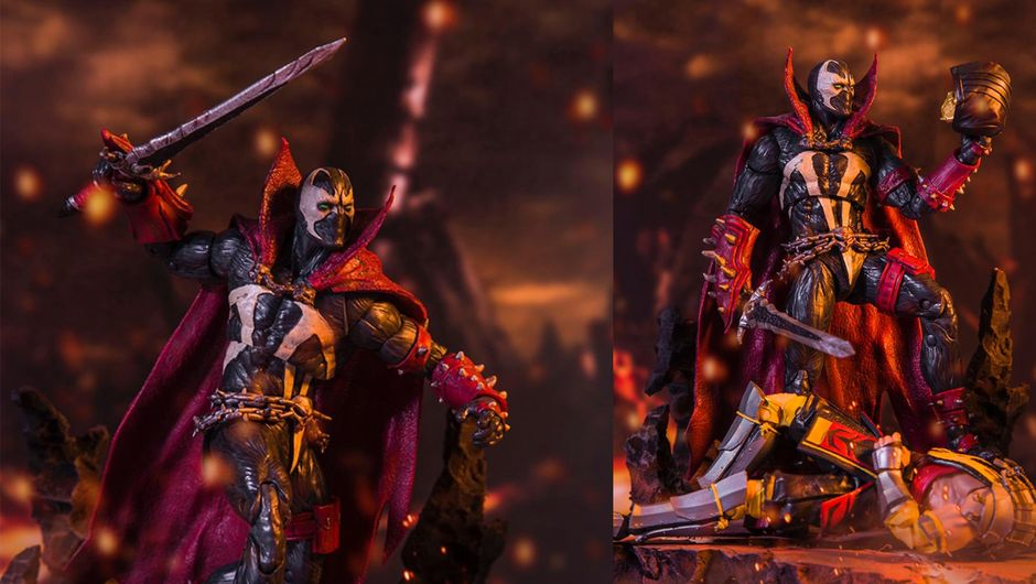 photo showing spawn action figure from mortal kombat