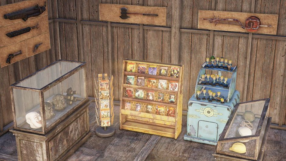 Fallout 76 screenshot showing display cases