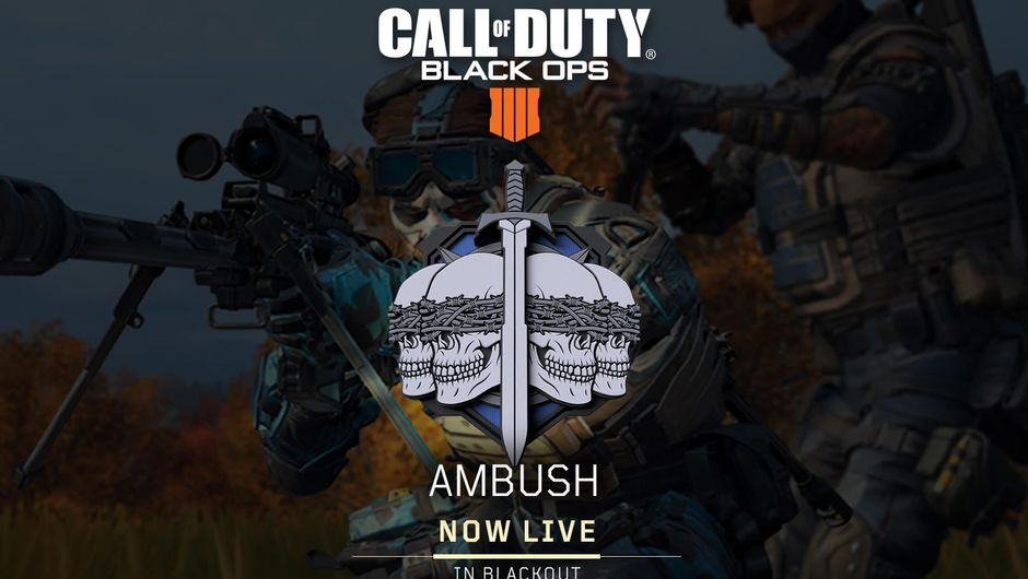 Poster advertising Call of Duty: Black Ops 4 event Ambush