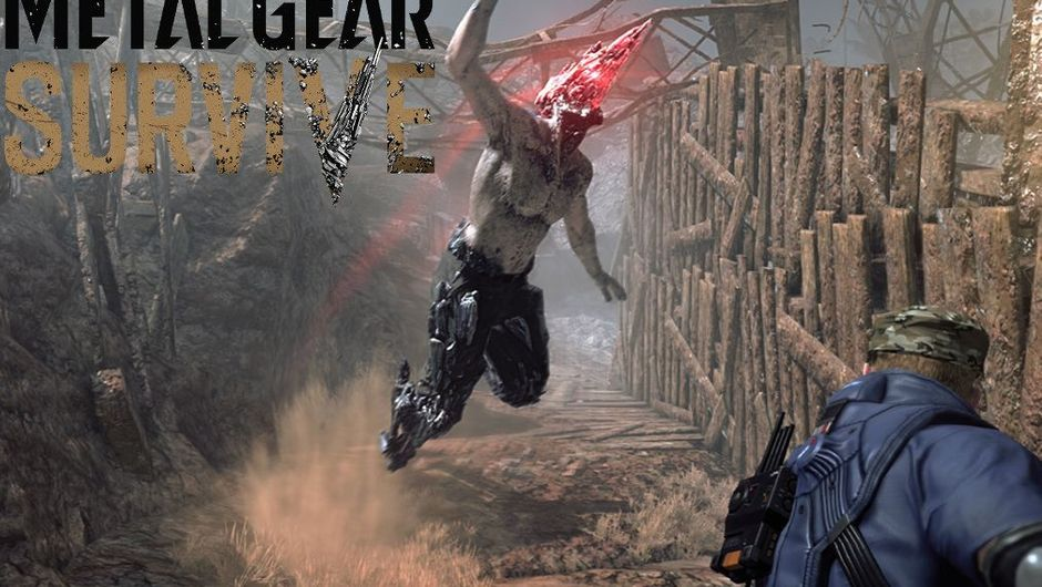 Metal Gear Survive Wanderer jumping on the Captain.