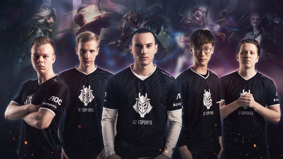 Picture of the 2017/2018 roster for G2 Esports