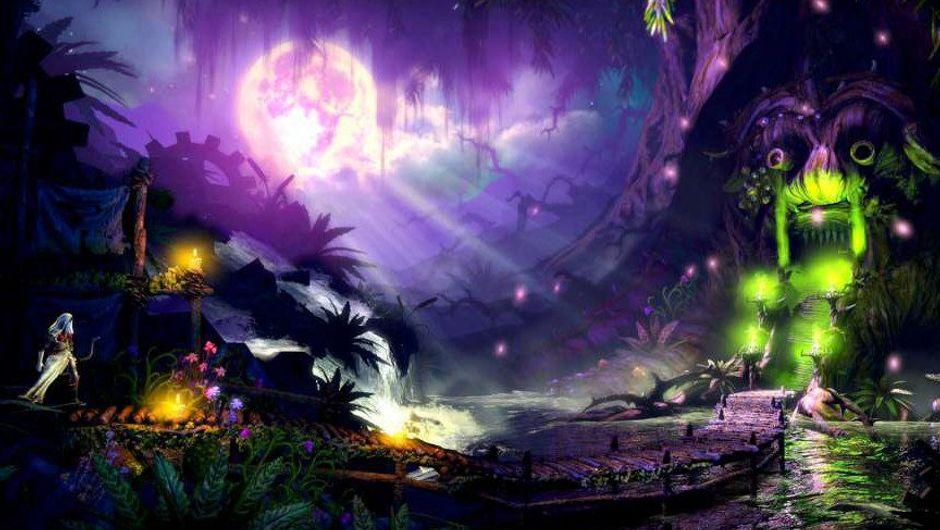 Screenshot of the beautiful scenery in Trine 2