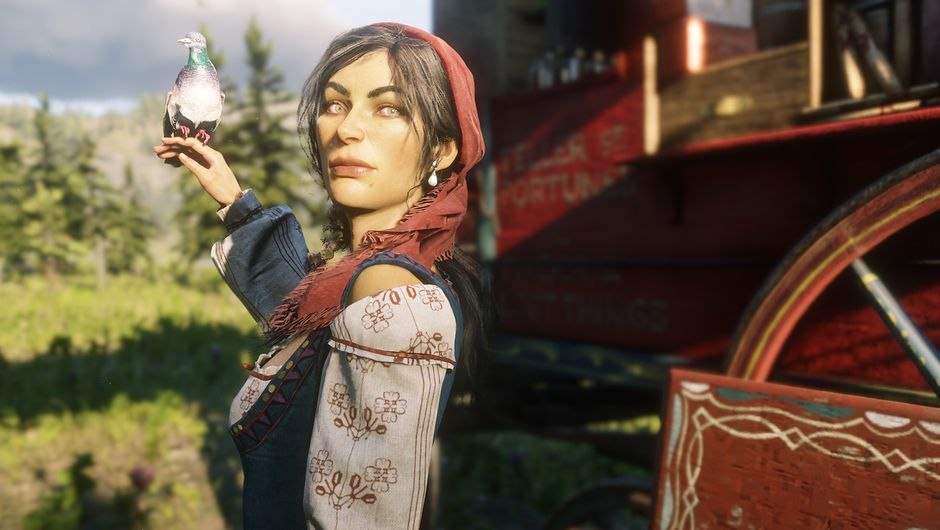red dead redemption 2 screenshot showing Madam Nazar