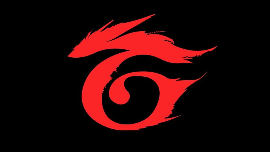Picture of a red Garena logo with black background