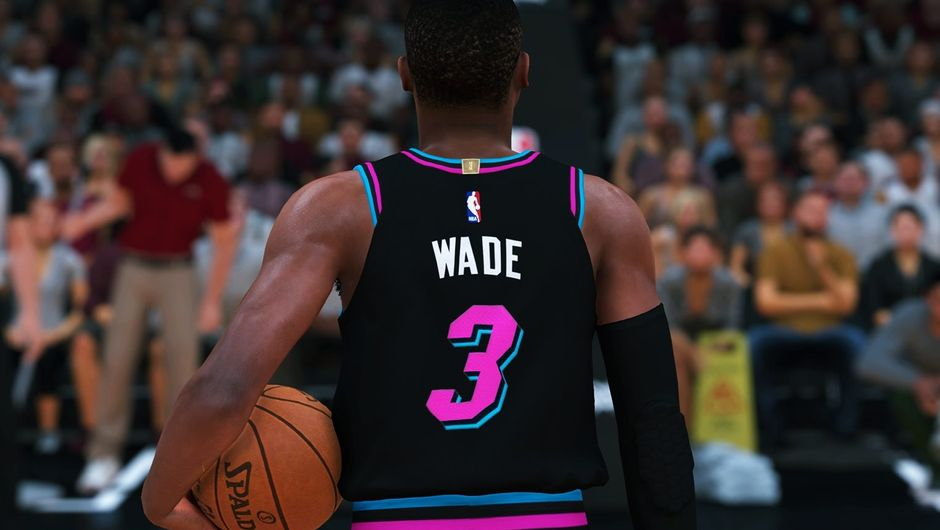 Screenshot of Dwyane Wade in NBA 2K19.