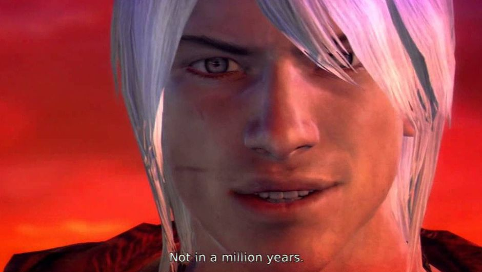 Emo Dante is mocking the original Dante's appearance