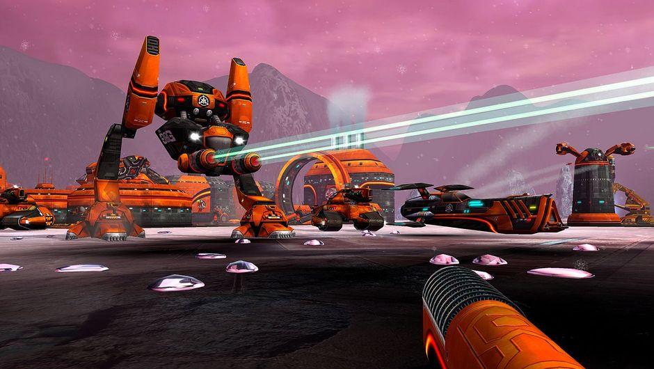 Battlezone walkers and base remastered screenshot