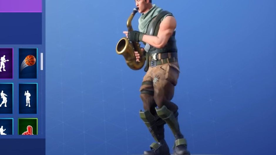 Picture of a Fortnite player checking out an emote