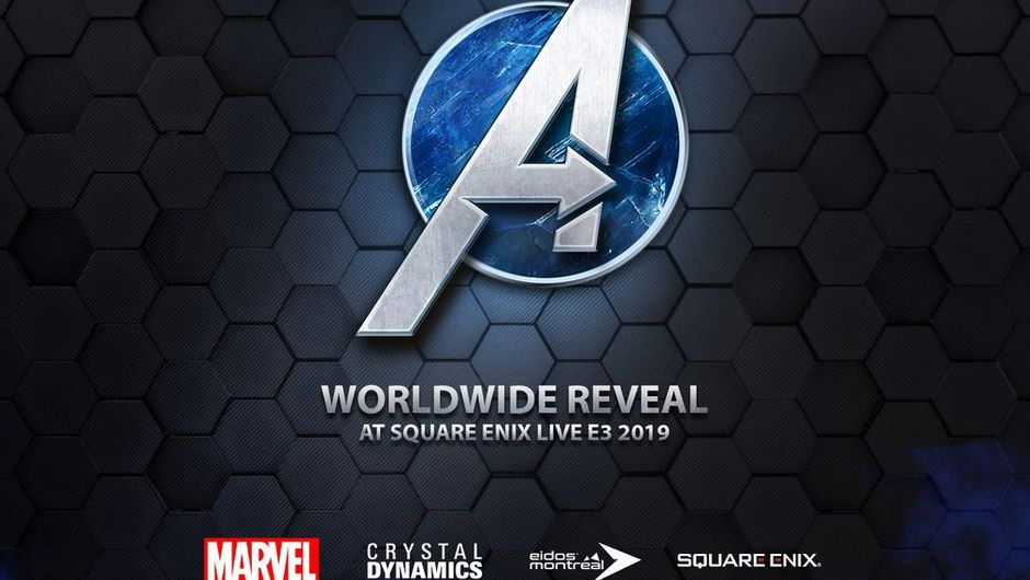 artwork showing avengers logo in blue circle