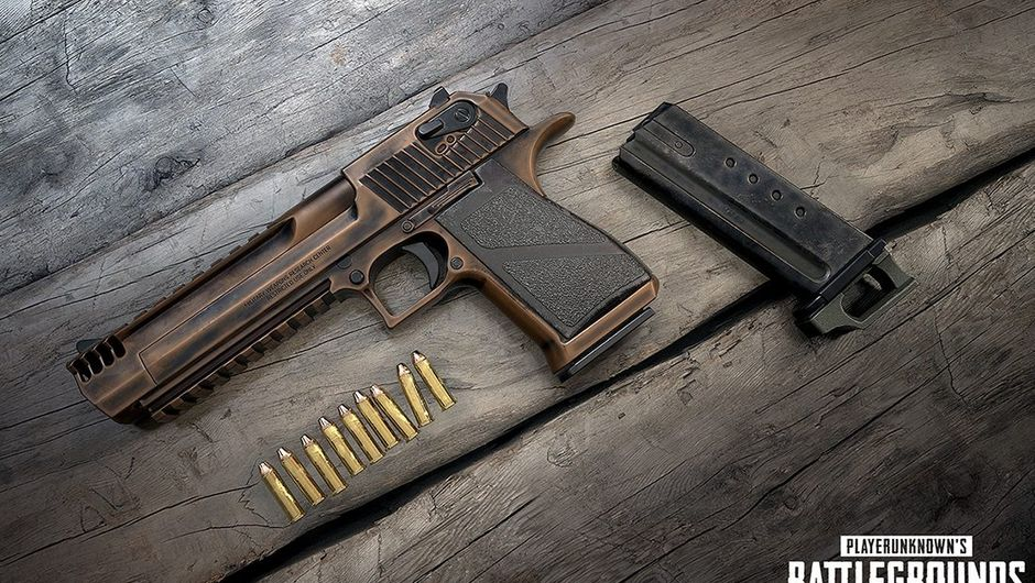 Picture of the new weapon, Deagle, in PUBG