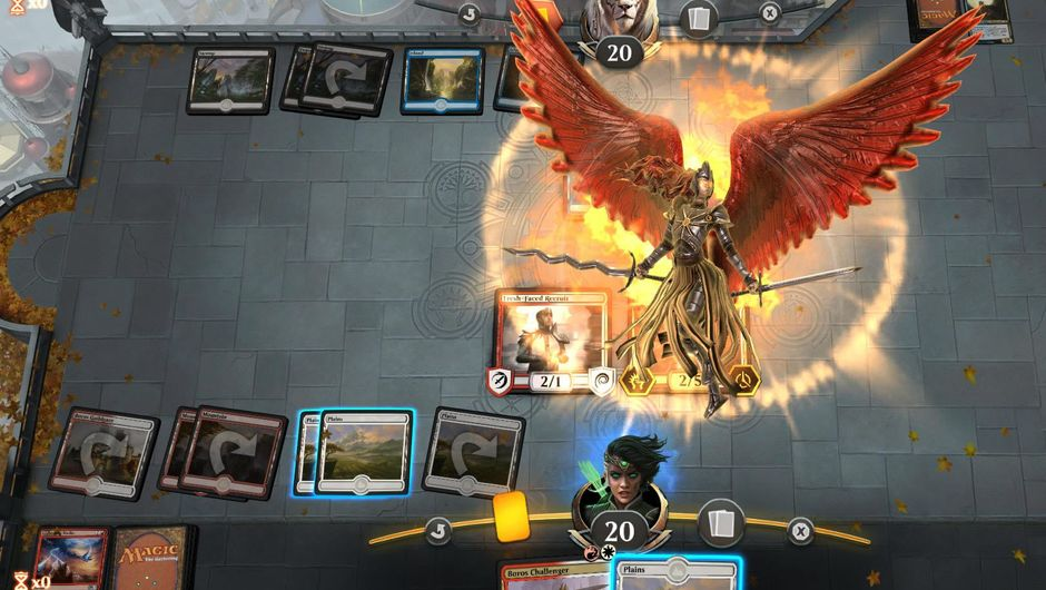 Animated combat phase in Magic: The Gathering Arena