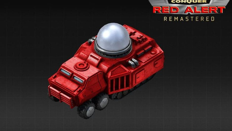 First picture of the Tesla Tank in Red Alert Remastered