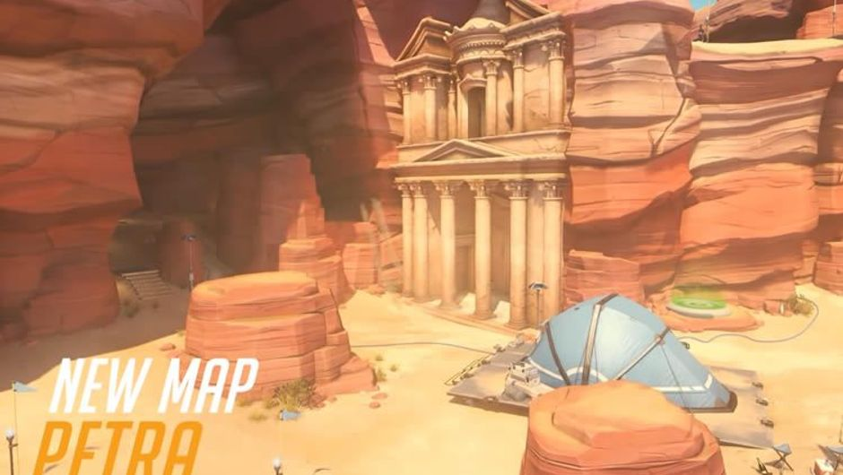 Picture of a new map for Overwatch called Petra