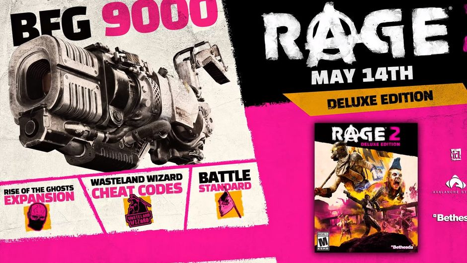 Advert for the Deluxe Edition of Rage 2