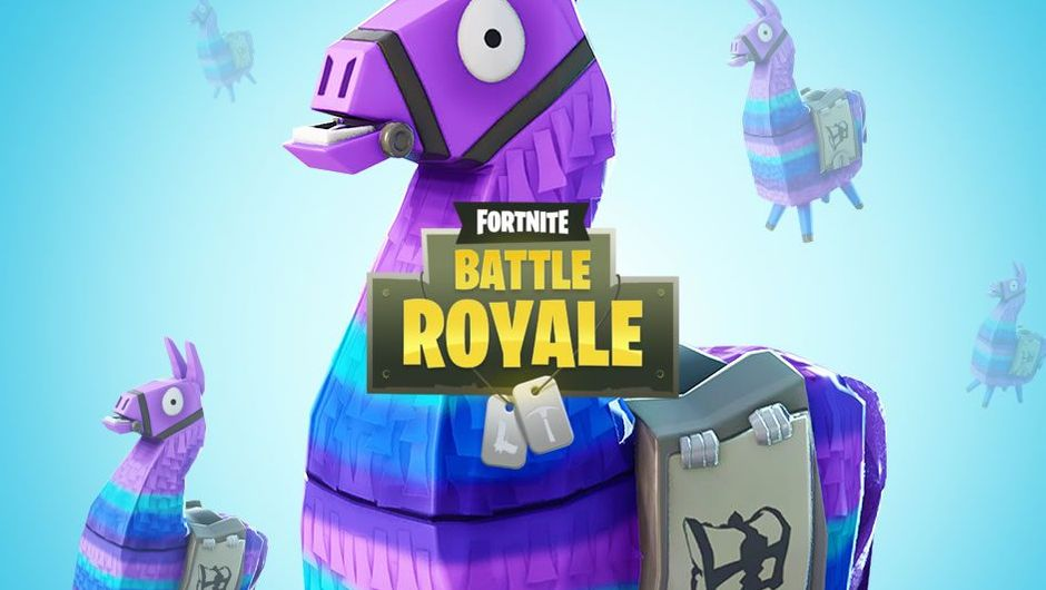 A Llama shaped pinata from the popular game Fortnite