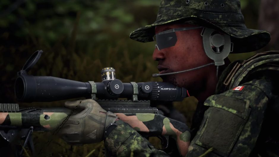 squad screenshot showing a black soldier with a sniper