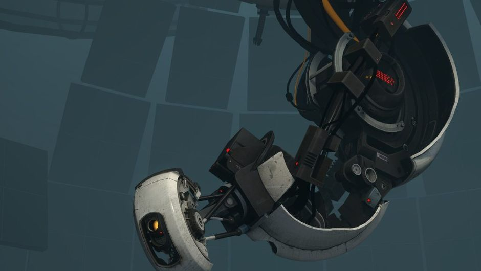 Screenshot of GlaDOS' new body from Portal 2