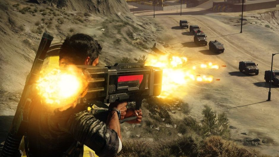 picture showing rico firing rockets in Just cause 4