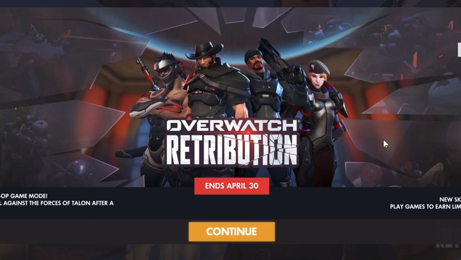Retribution event in-game menu