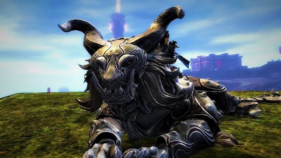 Picture of the new mount Warclaw in Guild Wars 2