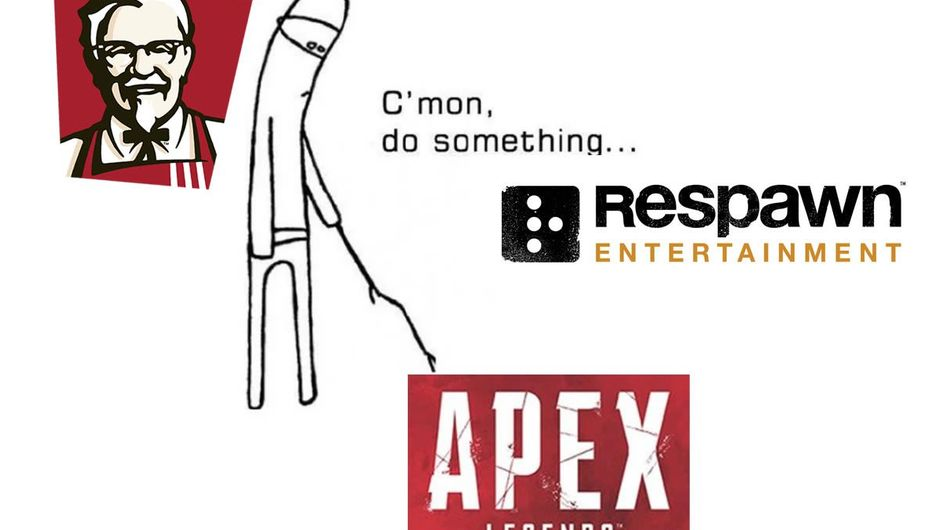KFC's dig at Respawn and Apex Legends with the 'Do something' meme