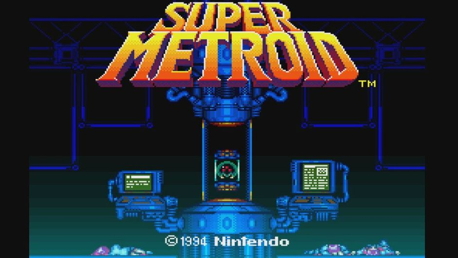 Promotional image for Nintendo's Super Metroid