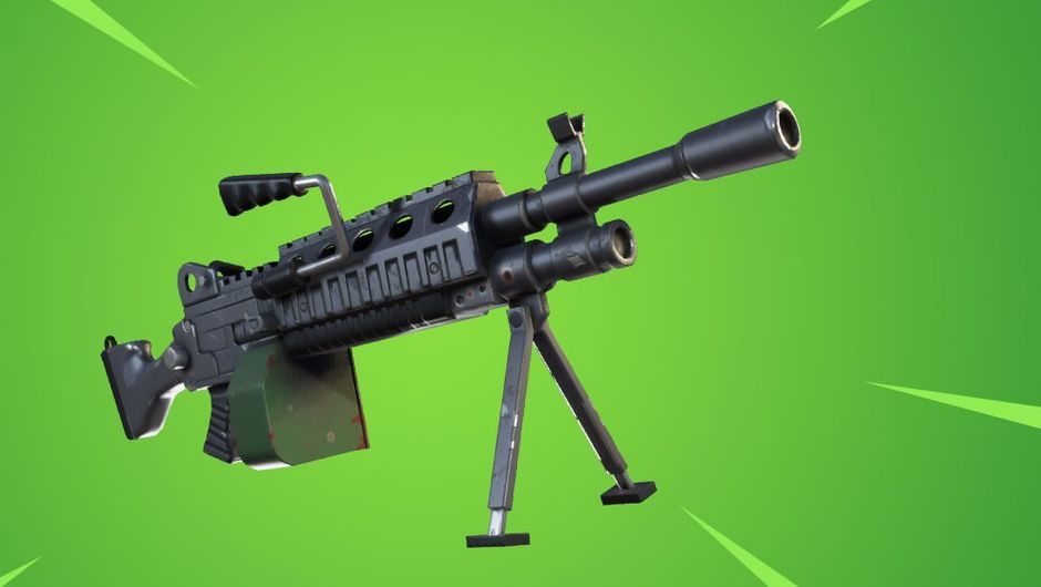 Picture of new addition to Fortnite arsenal, the LMG