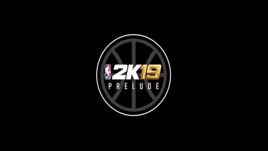 NBA 2K19 the Prelude logo on a black background