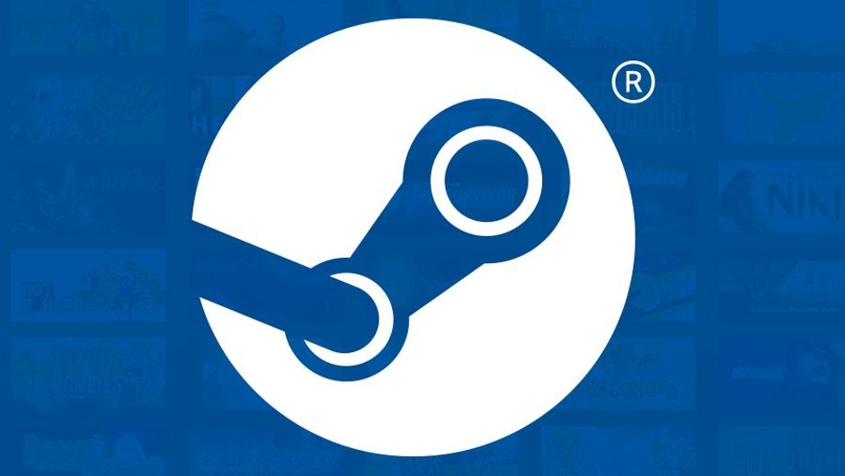 picture showing steam logo on blue background