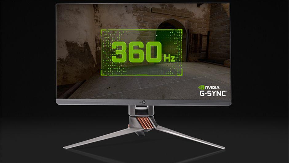artwork showing asus rog monitor