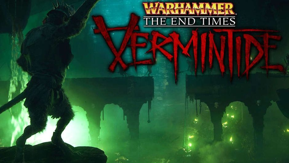 Warhammer: Vermintide art showing overgrown bipedal rats in a sewer filled with green fumes.