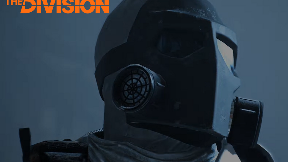 A person in a face mask is staring into the distance in The Division.