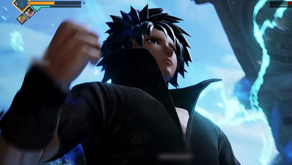 Custom made character in Jump Force charging the Heat Dome attack.