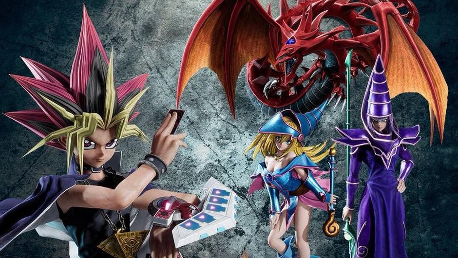 Picture of Yami Yugi with his monsters that came from the cards