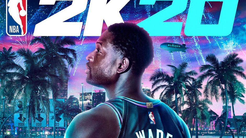 Picture of Dwayne Wade on NBA 2K20 cover