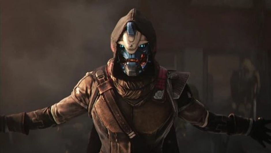 Trailer screenshot showing Cayde 6.