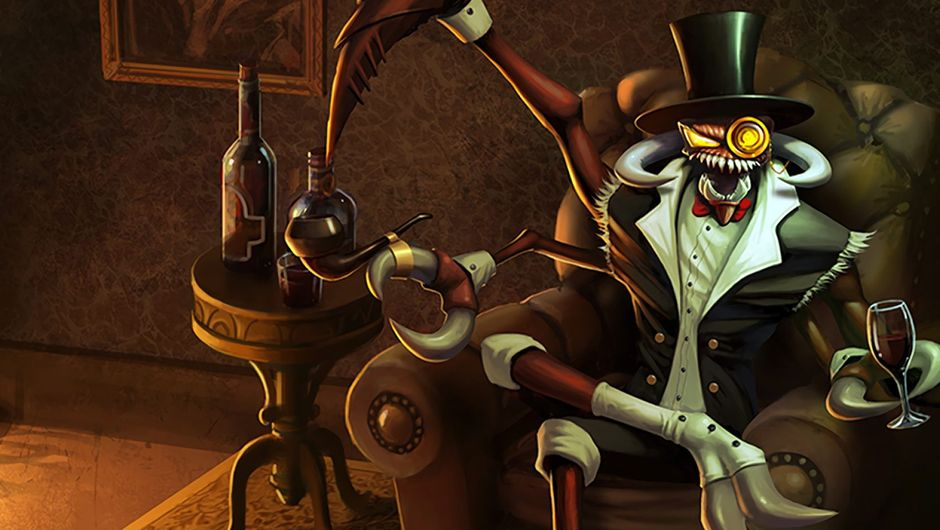 Splash art for Gentleman Cho'Gath, the legendary skin in League of Legends