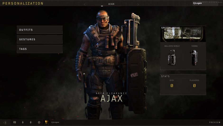 Screenshot of a specialist from Call of Duty: Black Ops 4