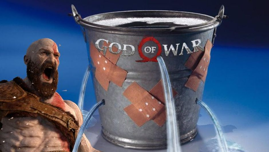 Kratos is yelling as God of War bucket keeps leaking.