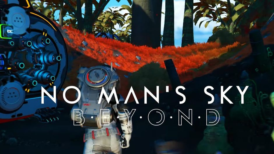 Astronaut running in No Man's Sky: Beyond