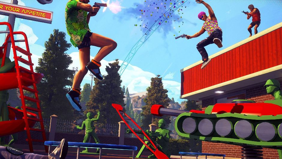 Players are shooting each other in Radical Heights.