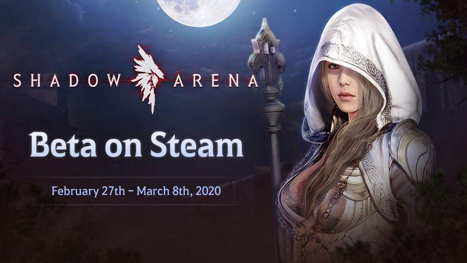 artwork showing Shadow Arena beta dates