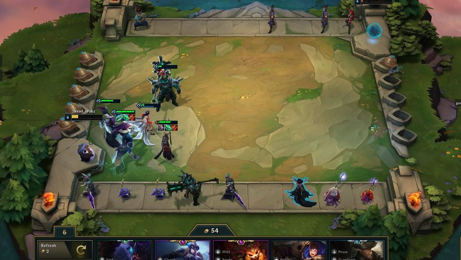 Picture of a game in Teamfight Tactics